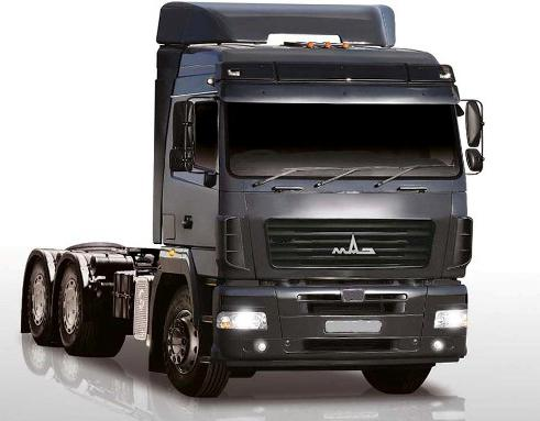 MAZ-6430 is a powerful and high-speed truck tractor