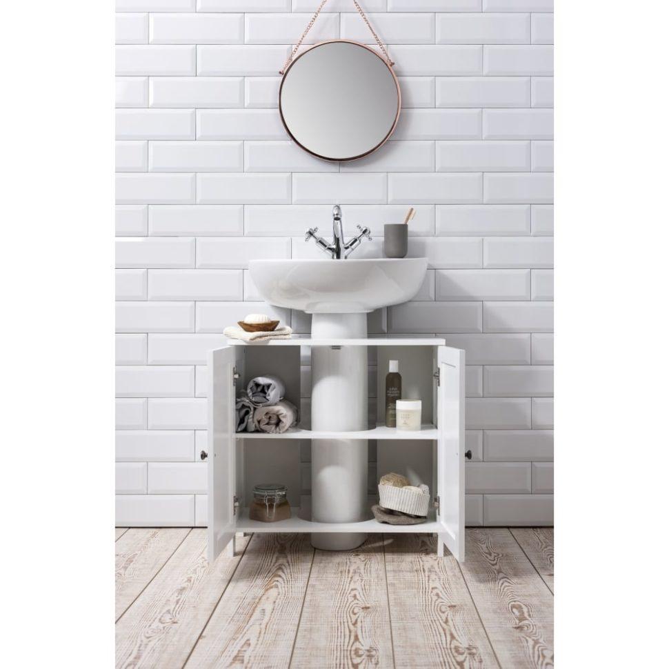 Lavabo con mueble en el cuarto de baño: foto de opciones